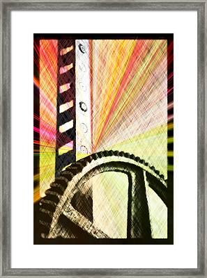 When Rack And Pinion Spark -- Zahnstangenfunkel Framed Print by Arthur V Kuhrmeier
