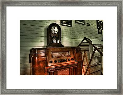 When Radios Were King Framed Print