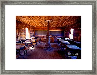 When School Was In 1-room Framed Print