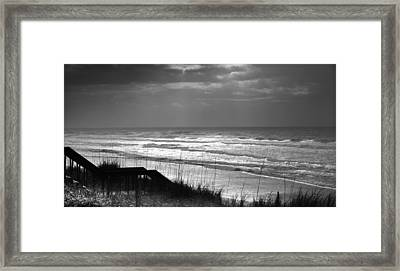 When Silver Dances Upon The Sea Framed Print by Karen Wiles