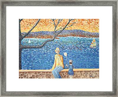 When The Boats Sail Framed Print