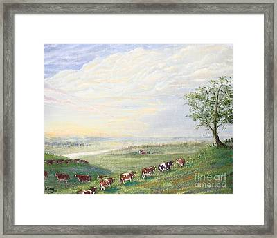 When The Cows Come Home 1991 Framed Print by Wingsdomain Art and Photography