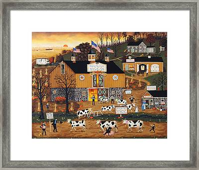 When The Cows Come Home Framed Print by Joseph Holodook