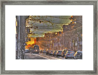When The Day Is Long....  Framed Print