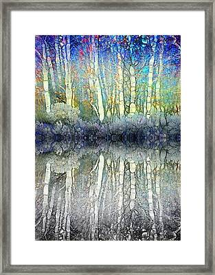 When The Forest Gets The Blues Framed Print by Tara Turner