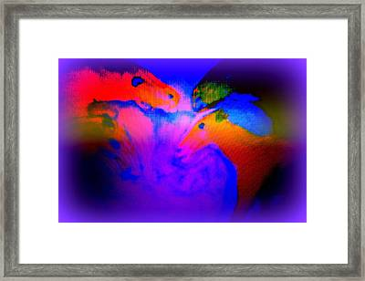 When The Horses Should Be Asleep But They Are Awake  Framed Print by Hilde Widerberg