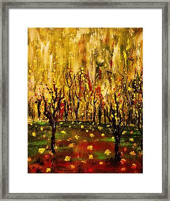 When The Leaves Falls Framed Print