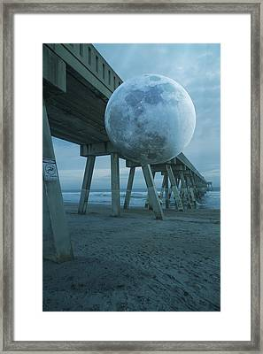 Waning Moon Framed Print