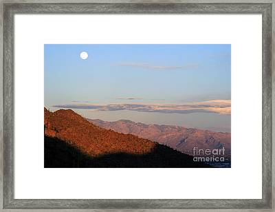 Framed Print featuring the photograph When The Mountains Turn Pink... by Paula Guttilla