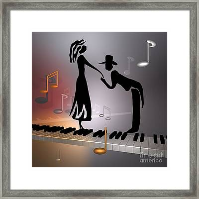 When The Music ... Framed Print