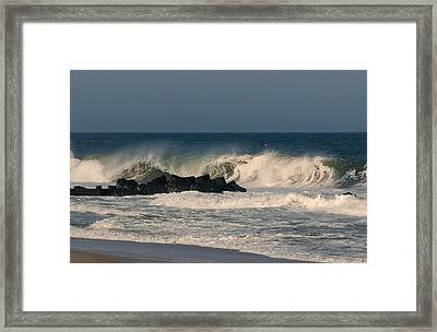 When The Ocean Speaks - Jersey Shore Framed Print