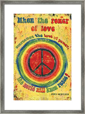 When The Power Of Love Framed Print