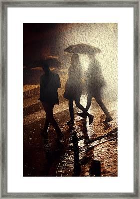 When The Rain Comes Framed Print by Jaroslaw Blaminsky