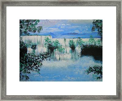 Framed Print featuring the painting When The Rivers Rise by Dan Whittemore