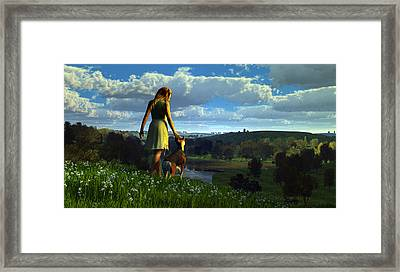 When The Sparrows Sing Framed Print by Dieter Carlton