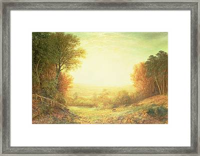 When The Sun In Splendor Fades Framed Print by John MacWhirter