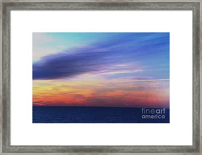 When The Sun Kissed The Sky  Framed Print by Robyn King