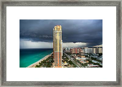 When The Thunder Rolls Framed Print by Karen Wiles