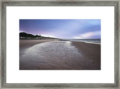 When The Tide Goes Out Framed Print