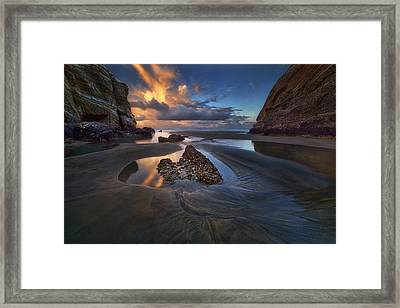 When The Tide Receded Framed Print by Yan Zhang