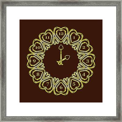 When The Time Stopped - 2 O Clock - Dark Brown Framed Print by Carlos Vieira