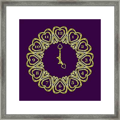 When The Time Stopped - 5 O Clock - Dark Purple Framed Print by Carlos Vieira