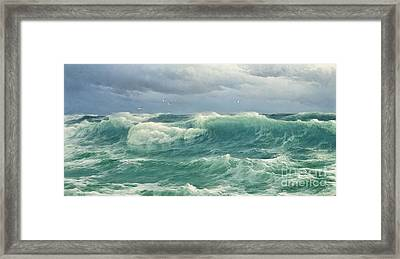 When The Wind Blows The Sea In Framed Print by Celestial Images