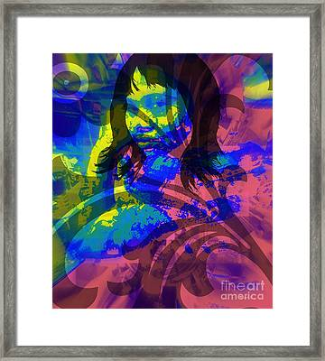 When The Winds Of Sorrow Blow Framed Print by Fania Simon