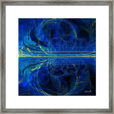 When The World Goes Yellow Framed Print by Fania Simon