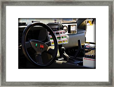 When This Baby Hits 88 Miles Per Hour... Framed Print by Ricky Barnard