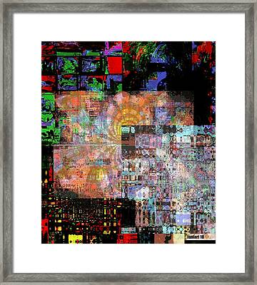 When Water Turns To Ice Framed Print by Fania Simon