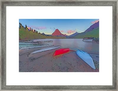When Will We Row II Framed Print