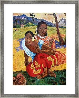 Framed Print featuring the painting When Will You Marry? by Tom Roderick