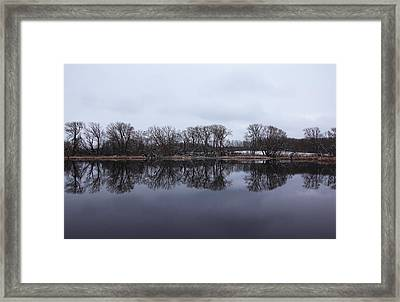 When Winter Meets Spring Framed Print