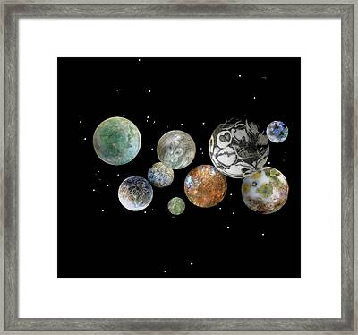 Framed Print featuring the photograph When Worlds Collide by Tony Murray