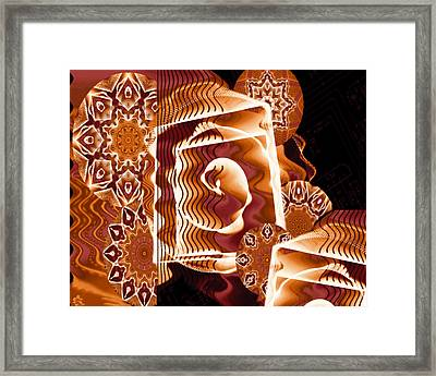When Worlds Kaleide Framed Print by Charmaine Zoe