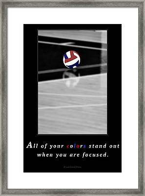 When You Are Focused Framed Print