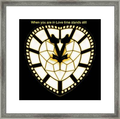 When You Are In Love Framed Print by Blair Stuart