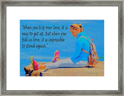 When You Fall In Love Framed Print