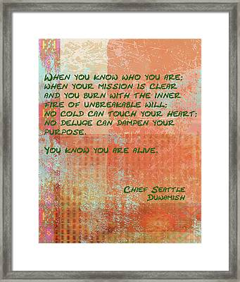 When You Know Framed Print by Paulette B Wright