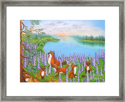 Where Bloom Lupines Framed Print