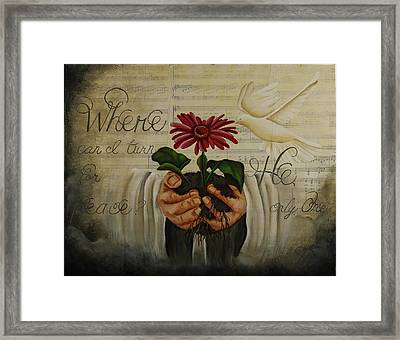 Where Can I Turn For Peace? Framed Print by Shanda Gifford