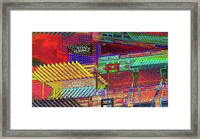 Framed Print featuring the digital art Where City Shadows Fall by Wendy J St Christopher
