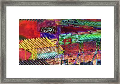 Where City Shadows Fall Framed Print