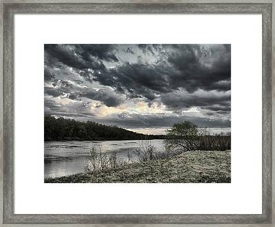 Framed Print featuring the photograph Where Clouds Flow... Horytsya, 2018. by Andriy Maykovskyi