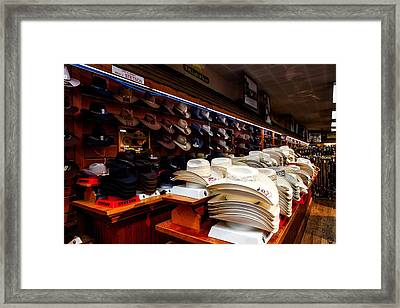 Where Cowboys Shop Framed Print