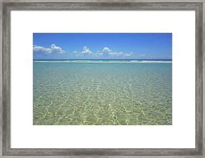 Where Crystal Clear Ocean Waters Meet The Sky Framed Print