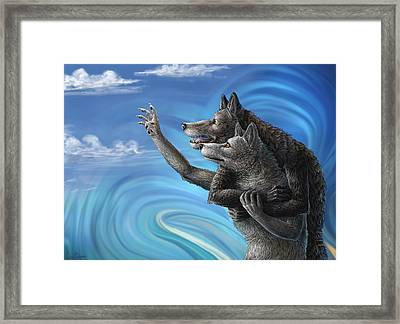 Where Does The Love Go? Framed Print by Cara Bevan