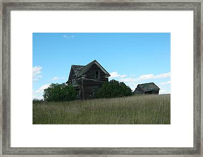 Where Dreams Whirled In Prairie Winds Framed Print