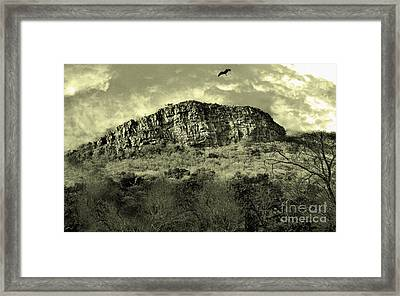 Where Eagle Dare-ii Framed Print by Manjot Singh Sachdeva